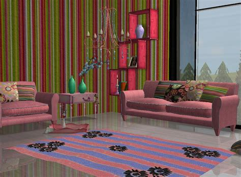 hippie living room mod the sims hippie recolor of s new living room