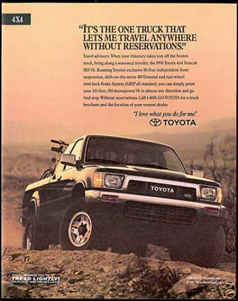 vintage toyota ad vintage car advertisements of the 1990s page 5