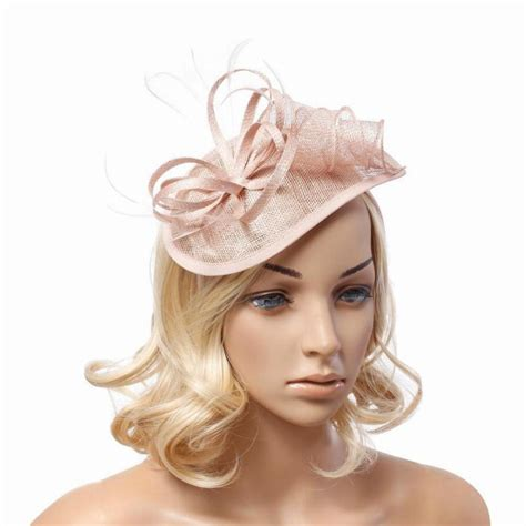 wedding hair up with hat fashion feather sinamay fascinator hats hairwear