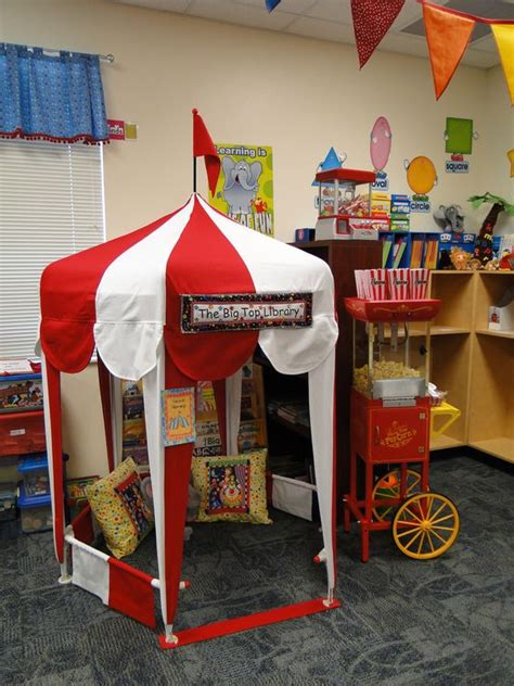 reading celebration themes circus tent library reading area carnival classroom
