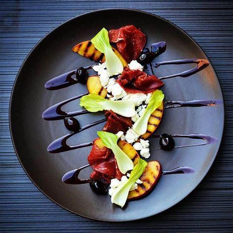 beautiful plate by pmroz74 bresaola ricotta bok choy shallot plating presentation