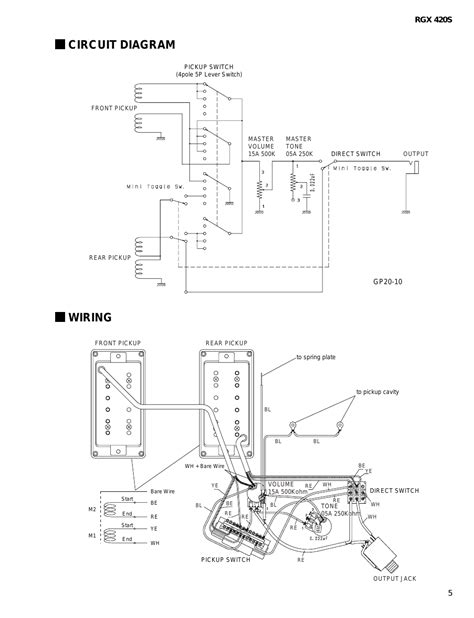 yamaha electric guitar wiring schematic jeep headlight