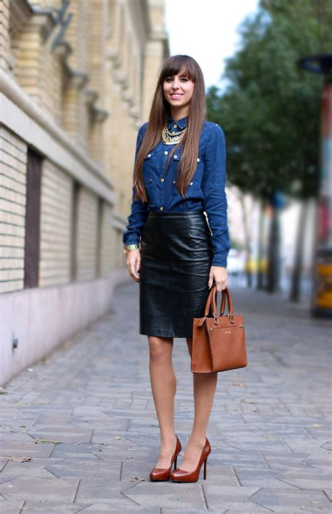 what to wear with black leather skirt ideas