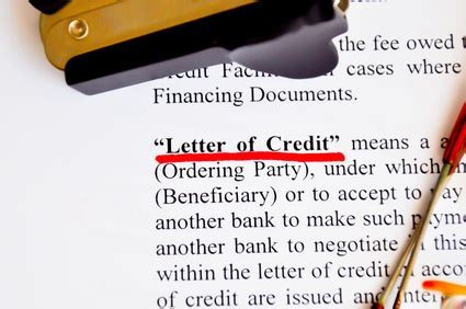 Letter Of Credit Fee Definition Letters Of Credit Seminar