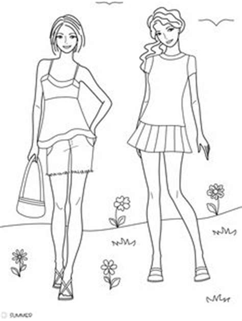 doodle design draw fashion coloring embroidery pages fashion on doodle
