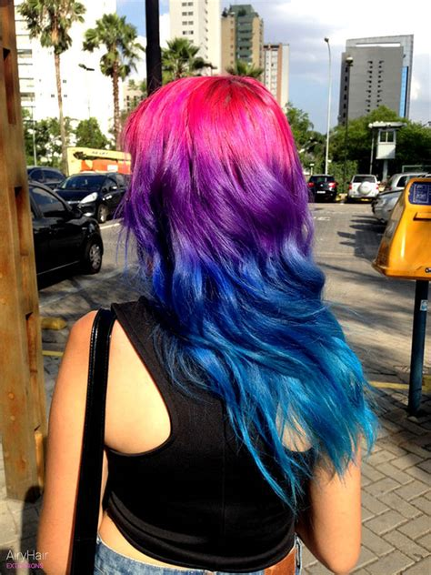 rainbow color hair ideas 20 crazy rainbow hair color ideas for 2016
