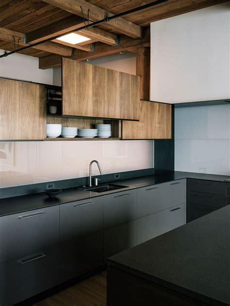 absolutely charming black kitchen interior  life