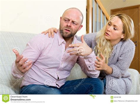 how to comfort a man woman comforting man stock photo image 66346788