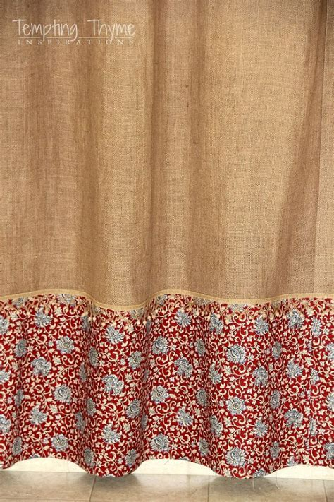 sewing burlap curtains 1000 ideas about burlap shower curtains on pinterest
