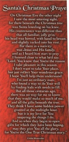 santa kneeling  front  baby jesus    prayer