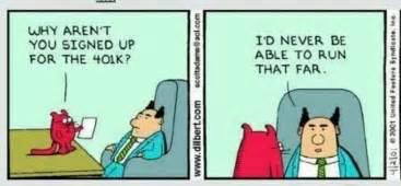 Haha Business Meme - dilbert running the 401k haha fitness pinterest