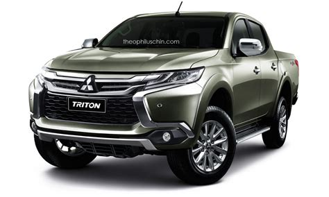 mitsubishi pickup trucks mitsubishi l200 triton wearing pajero sport s face makes