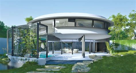 architecture house designs marine mollusk inspired circle house is flooded with