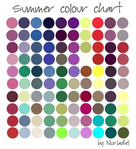 summer season colors summer color chart season color analysis as the seasons