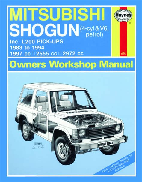 auto manual repair 1997 mitsubishi pajero engine control motoraceworld mitsubishi manuals
