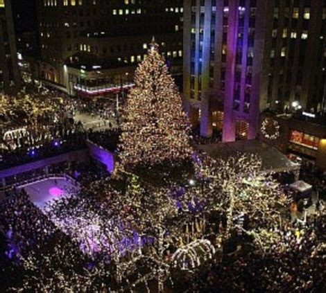 how many lights are on rockefeller christmas tree history of the rockefeller center tree daily mail