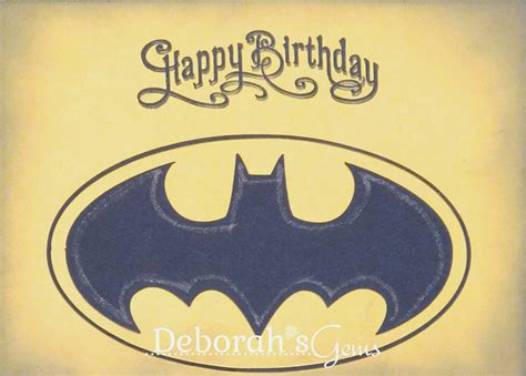 Batman Birthday Card Deborah S Gems Twins Birthday Cards