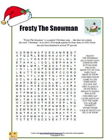 printable lyrics for frosty the snowman 6 best images of frosty the snowman story printable