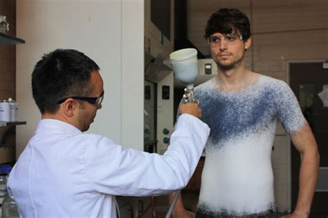 spray painting on clothes make clothes out of a can with spray on fabric wired