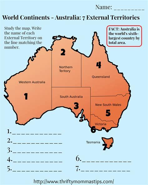 australia map printable australia map worksheet printable grade 3 to 5 thrifty