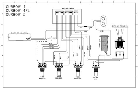 cort curbow 5 string wiring diagrams repair wiring scheme