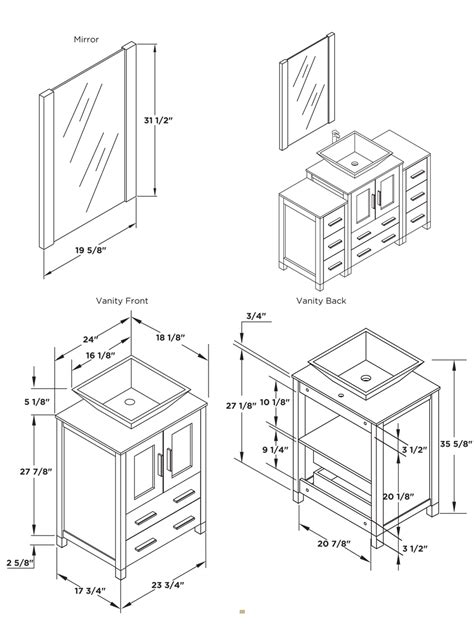 draw room dimensions bathroom vanity base cabinet diions gallery including