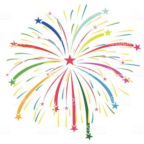 fuochi d artificio clipart colorful fireworks vector on a white background stock