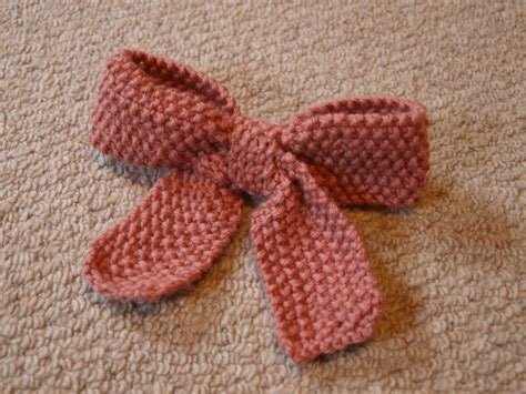 how to knit a bow knit bow pattern knitty knit
