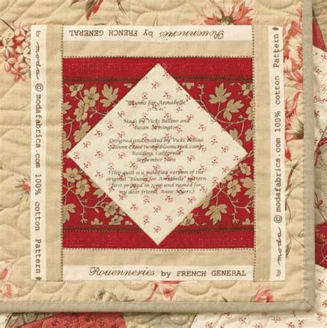 Printing Quilt Labels On Fabric by 15 Uses For A Single Quilt Block Stitch This