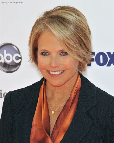www hair stlyes photos katie couric with short hair for a professional look