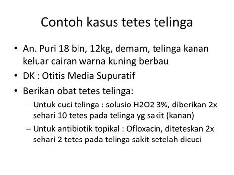 Obat Tetes Telinga Tarivid Ofloxacin ppt menulis resep powerpoint presentation id 1083956