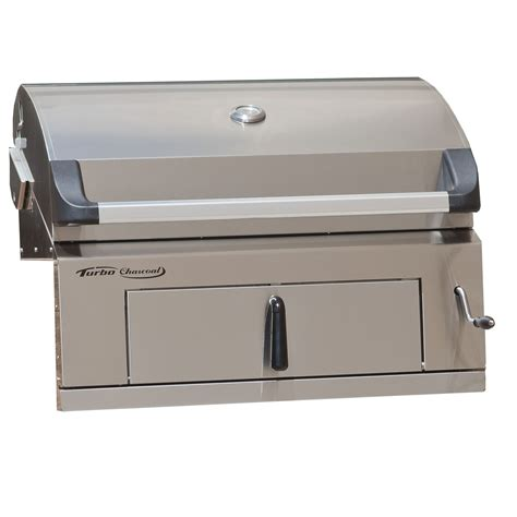Turbo charcoal built in grill barbeques galore