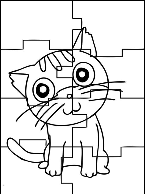 free coloring pages of large puzzle pieces