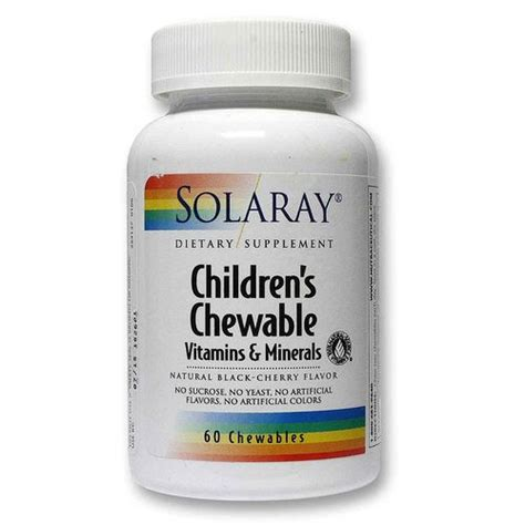Qclean Chewable Detox Supplement by Solaray Children S Chewable Multi Vitamin Cherry 60