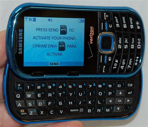 samsung intensity ii cell phone verizon sch u460 blue slider keyboard qwerty a 635753484724 ebay