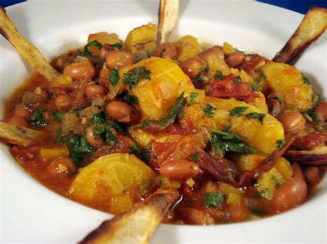 plantain and pinto stew from veganomicon
