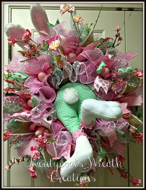 spring wreath ideas to make bunny butt spring wreath with deco mesh and burlap with