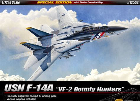 Academy Usn F 14a Vf 2 Bounty Hunters 1 72 Special Edition 12532 Nib M f 14a usn vf 2 bounty hunters academy 12532