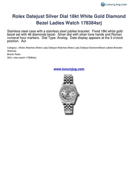 Rolex 152 Silver White rolex datejust silver 18kt white gold bezel 178384srj luxuryjug review
