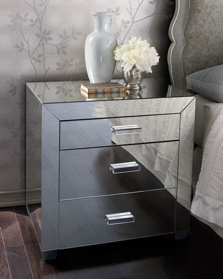 Mirrored Nightstand Sales by Quot Clairmonte Quot Mirrored Nightstand