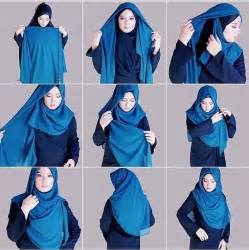 tutorial berhijab dengan jilbab segiempat 25 tutorial hijab segi empat praktis cara memakai jilbab