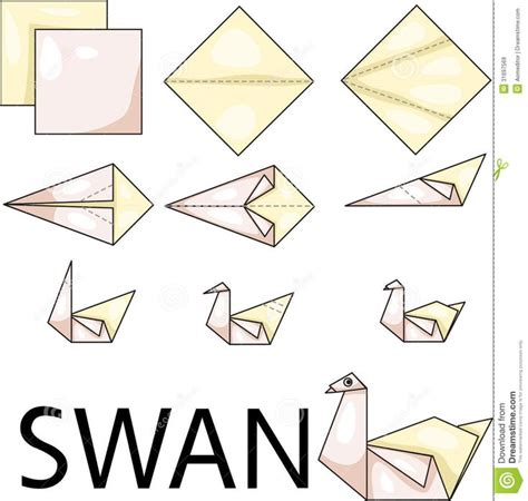 Simple Swan Origami - best 25 origami swan ideas on