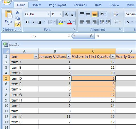 format microsoft excel 2007 copy cell formats with format painter table format