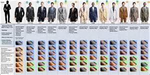 best color to wear to a a visual guide to matching suits and dress shoes
