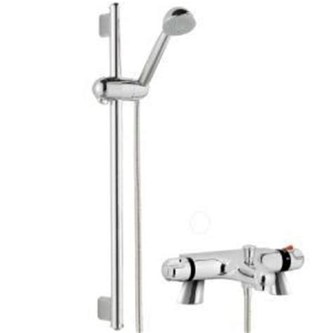 Deck Mounted Bath Shower Mixer thermostatic bath shower mixer with modern slider rail kit