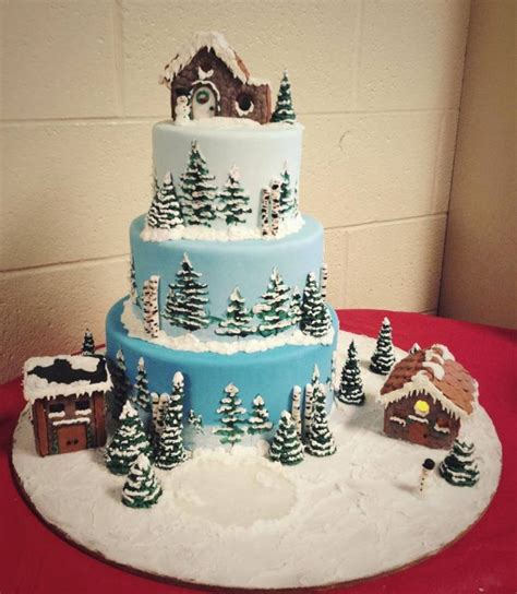 Home Decorating For Dummies christmas village cake cakecentral com