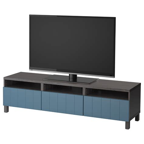 besta tv bench with drawers best 197 tv bench with drawers black brown hallstavik dark