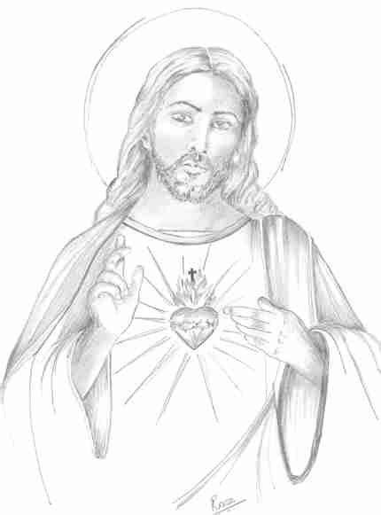 imagenes de jesucristo para dibujar a lapiz sagrado coraz 243 n de jesus te cuento mi fe