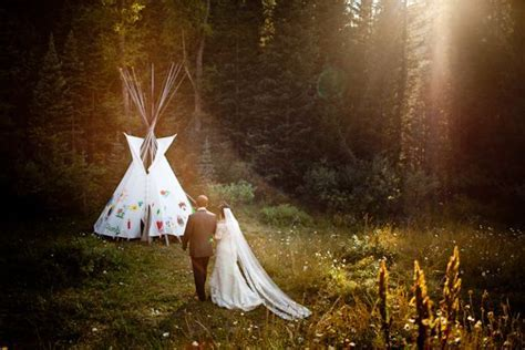 Melissa and Eric's Dunton Hot Springs Wedding Photo