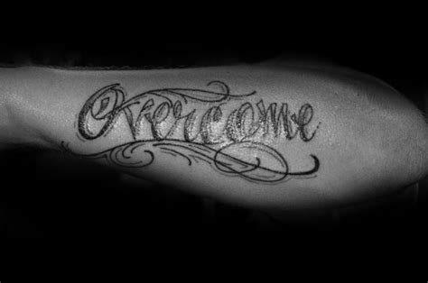overcome tattoo 20 overcome designs for word ink ideas